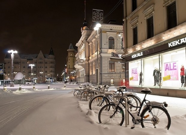 велосипедная зима