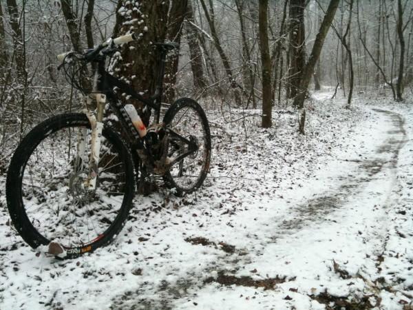На велосипеде зимой bike snow