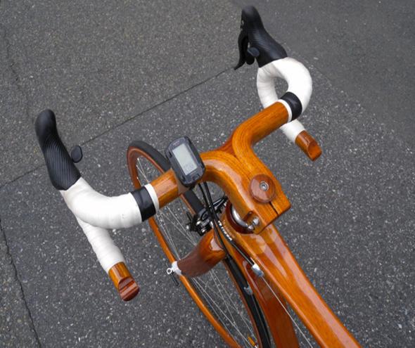 SANO MAGIC экологический велосипед из красного дерева