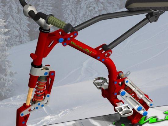 Омо лыжный велосипед  omo bike