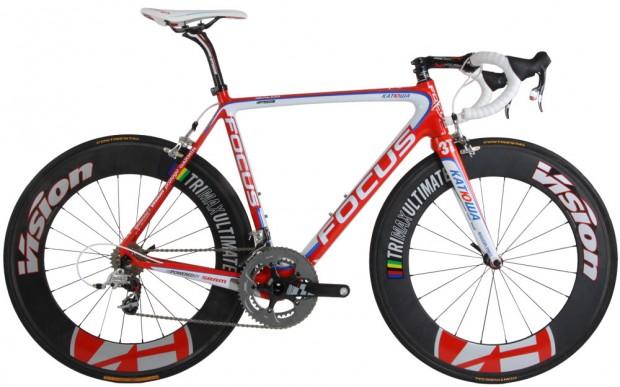 Велосипед команды «Катюша» Focus Izalco