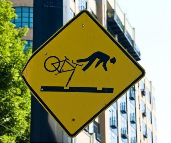 велосипедный знак bike fall