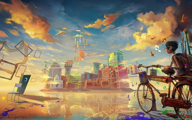 раскраска велосипед