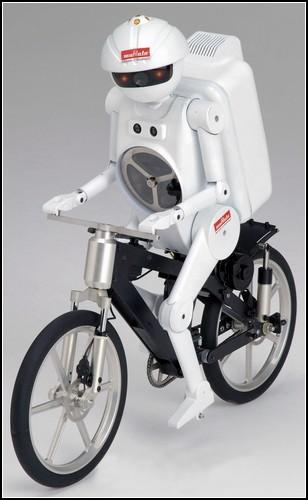 Роботы - велосипедисты murata