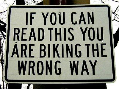 велосипед заехал не туда no way bike