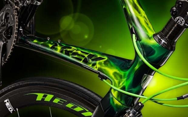 Обои – зеленый шоссейный велосипед TREK