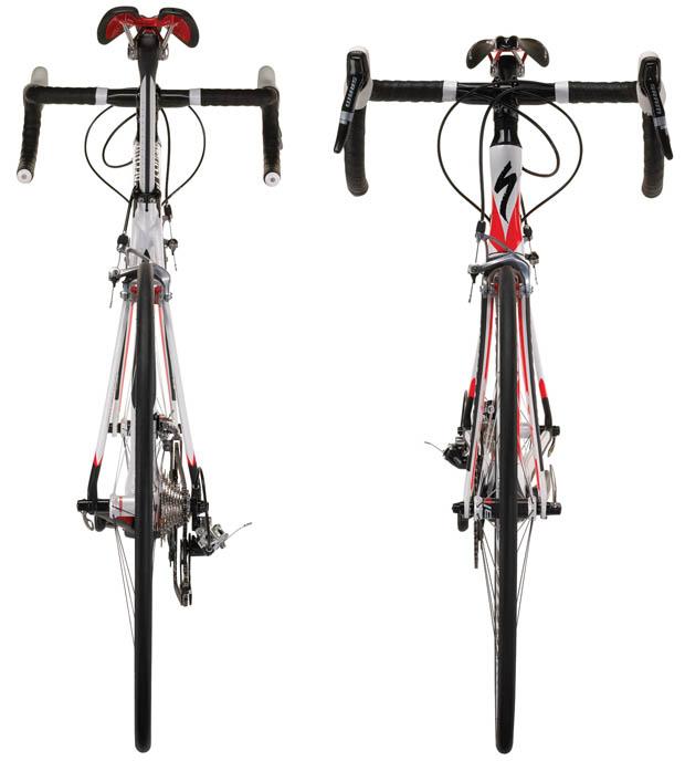 велосипед Specialized McLaren Venge спереди и сзади