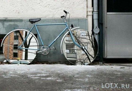 Зеркальный велосипед