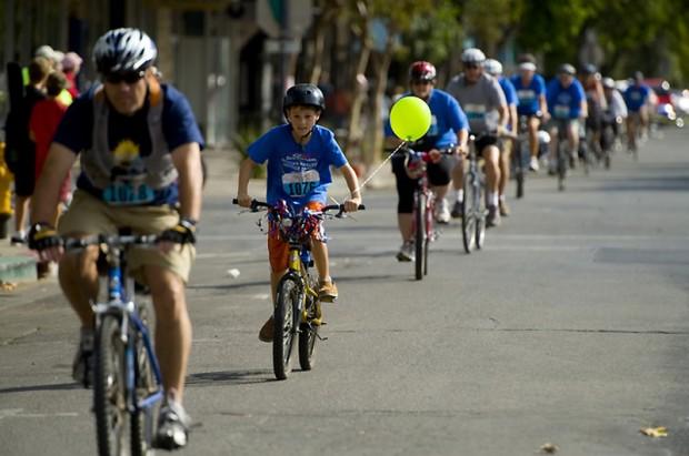 проехались на велосипедах