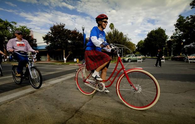 проехались на своих велосипедах