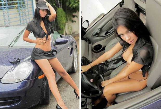 Голые девушки и машины car and girls