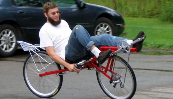 велосипедист на датском лигераде Flevo-Racer