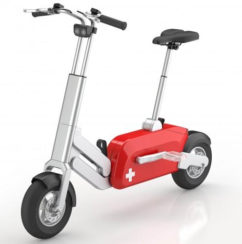 Складной велосипед в виде швейцарского ножа Voltitude - вид спереди