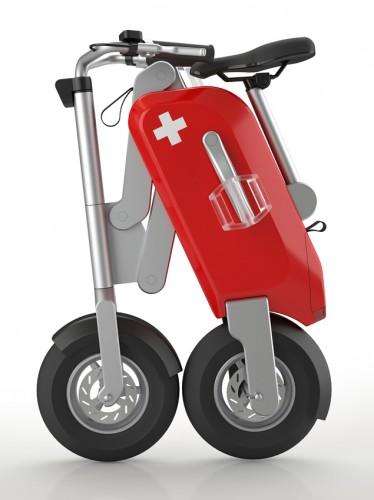 Складной велосипед в виде швейцарского ножа Voltitude - сложеный