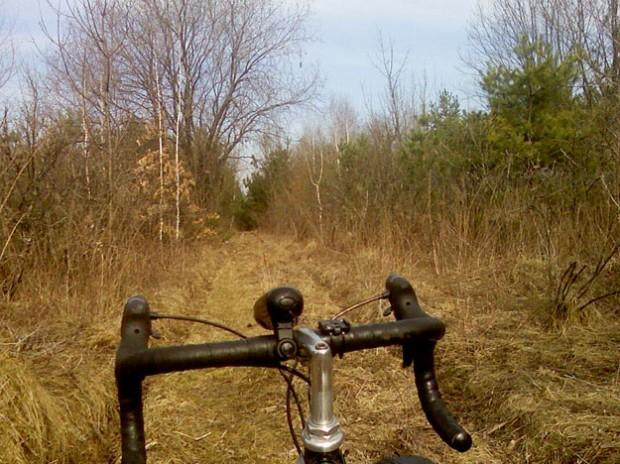 Велосипедный туризм, Винница, в лесу