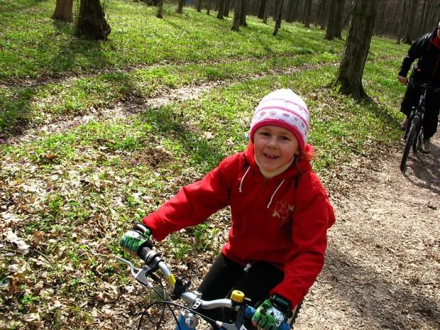 Самая маленькая винницкая  велосипедистка