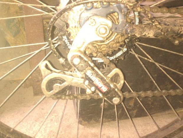 Велосипед Саныча, задняя перекидка