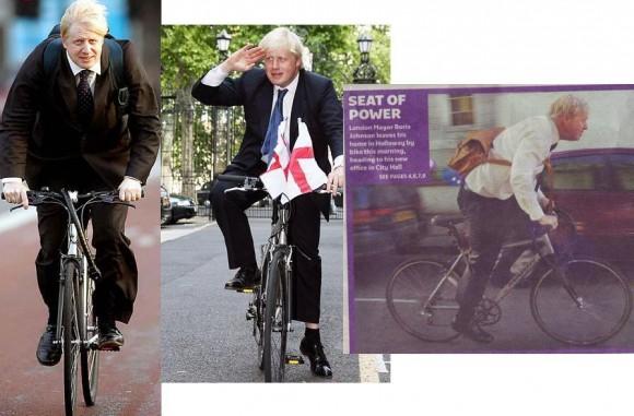 Борис Джонсон мэр Лондона на велосипеде