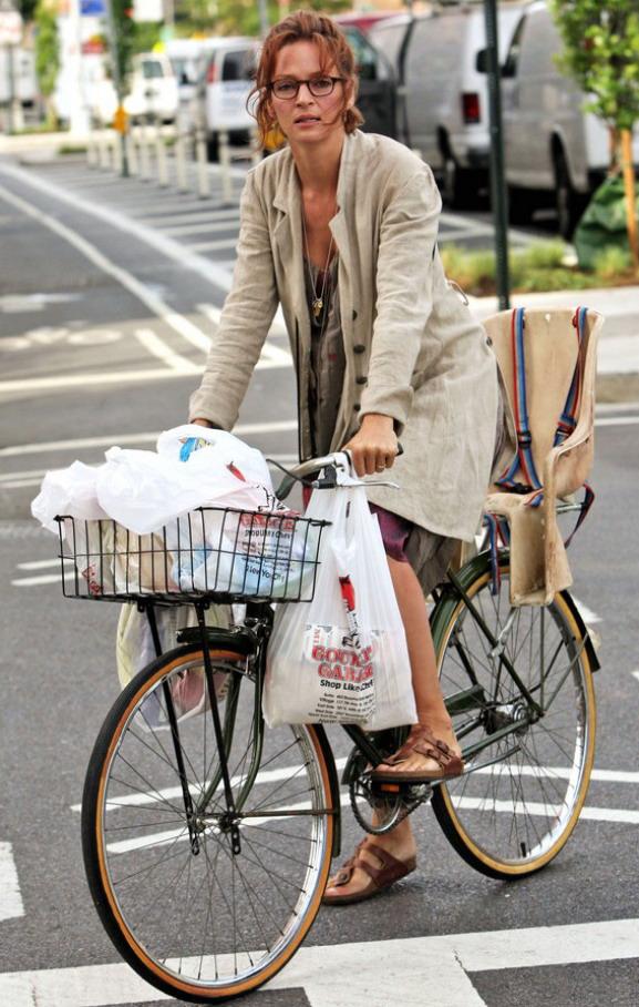 Знаменитости на велосипеде
