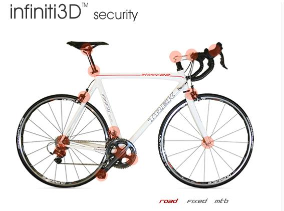 система защиты велосипеда, велосипедный замок