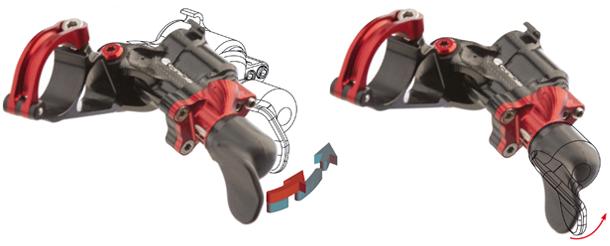 Гидравлическая система переключения передач действия манетки