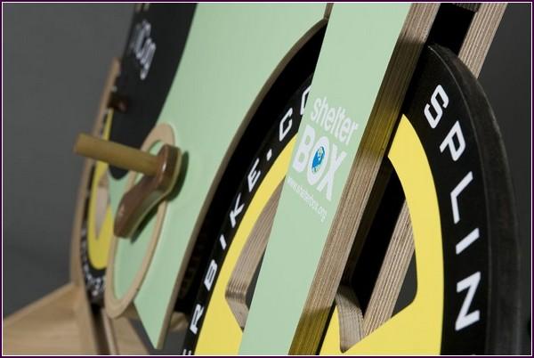 Деревянный Велосипед SplinterBike вид спереди