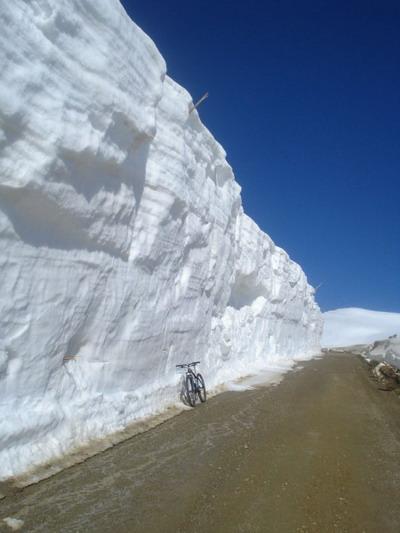 Зимнее катание на велосипеде