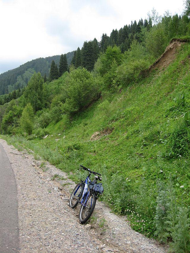 окрестности Алма-Аты велосипед Fuji