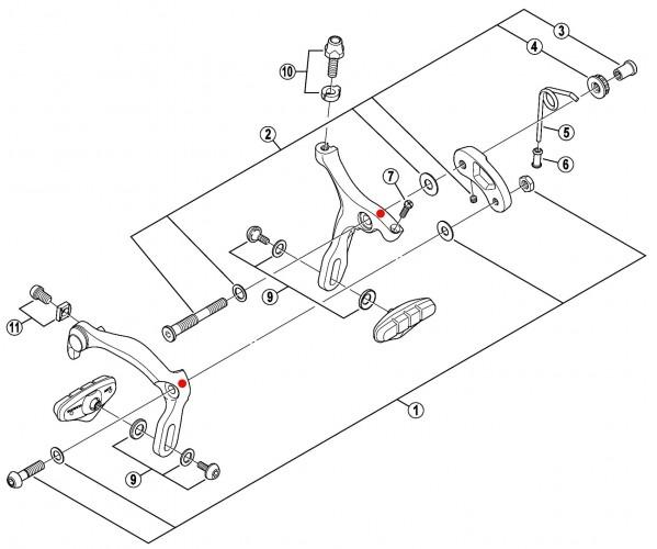 Велосипедные тормоза чертеж