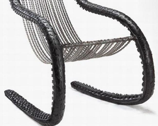 Мебель из велосипедов – велосипедное кресло