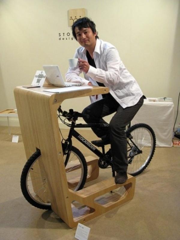 Велосипедный столик для кофе