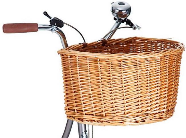 велосипедный багажник в виде традиционной корзинки