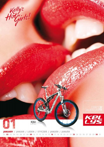 Велосипедный календарь – Kelly's 2011 январь