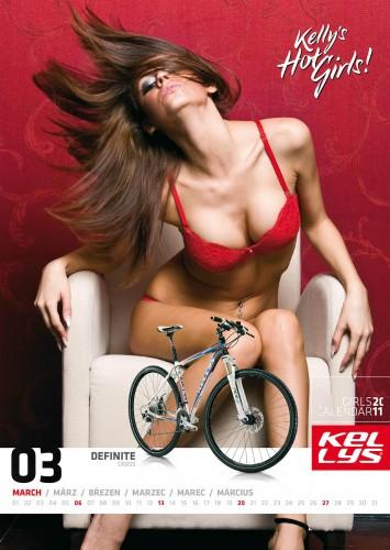 Велосипедный календарь – Kelly's 2011 март