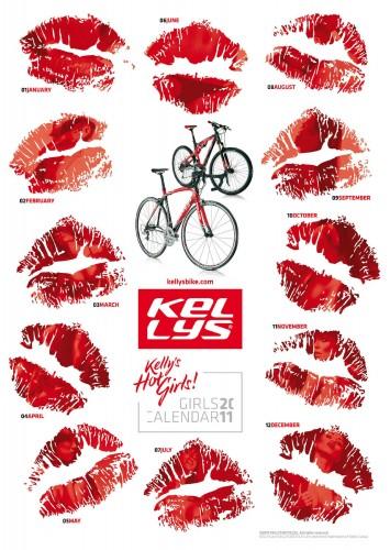 Велосипедный календарь – Kelly's 2011 женские губы