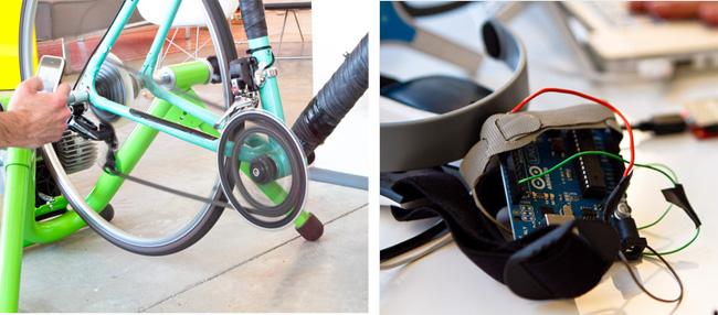 Стендовые испытания  велосипедов Parlee Cycles с телепатическим переключением передач