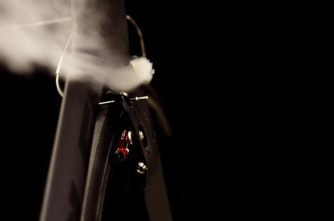 велосипед  Parlee Cycles испытание в аэродинамической трубе – найдено слабое место
