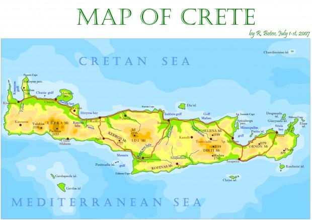 Карти острова Крит Crete Map