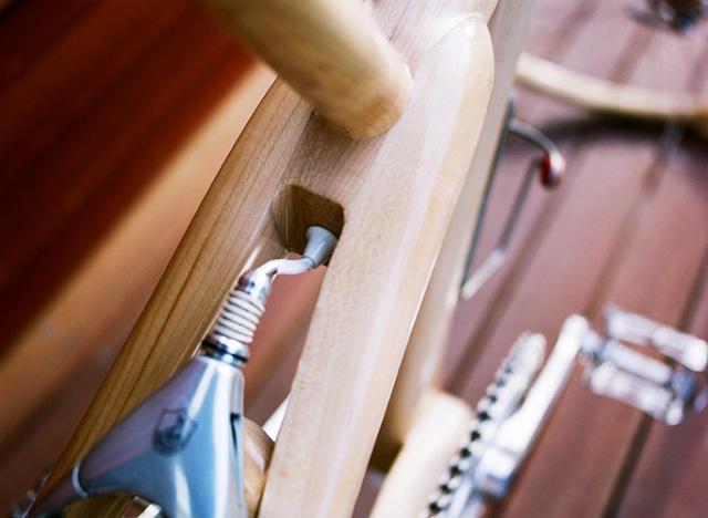 деревянный велосипед  Ricor задний тормоз