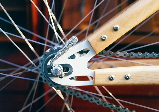 деревянный велосипед  Ricor задняя вилка