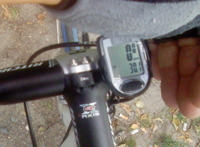 Средняя скорость на велосипеде