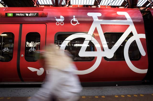 провоз велосипеда в поезеде – Копенгаген