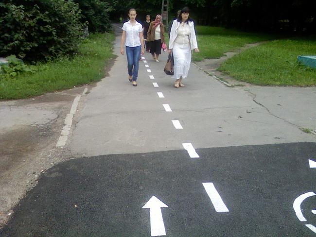 Велосипедные дорожки в Виннице