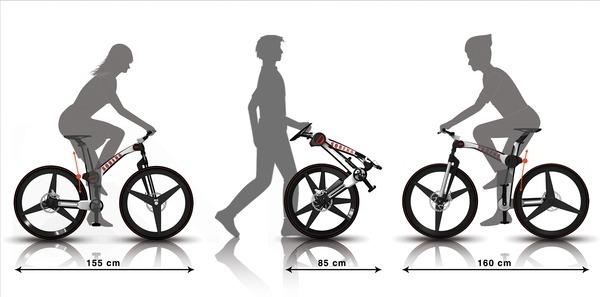 раскладной велосипед