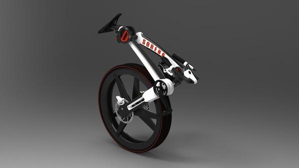 сложеный раскладной велосипед