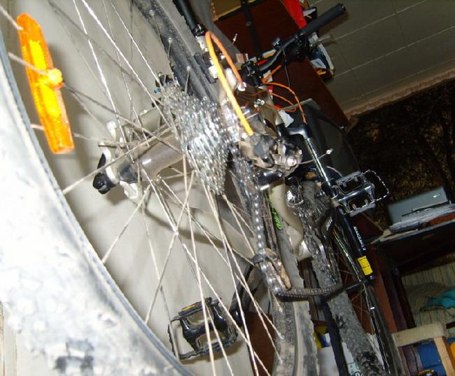 Велосипед форвард 1340 вид снизу и сзади