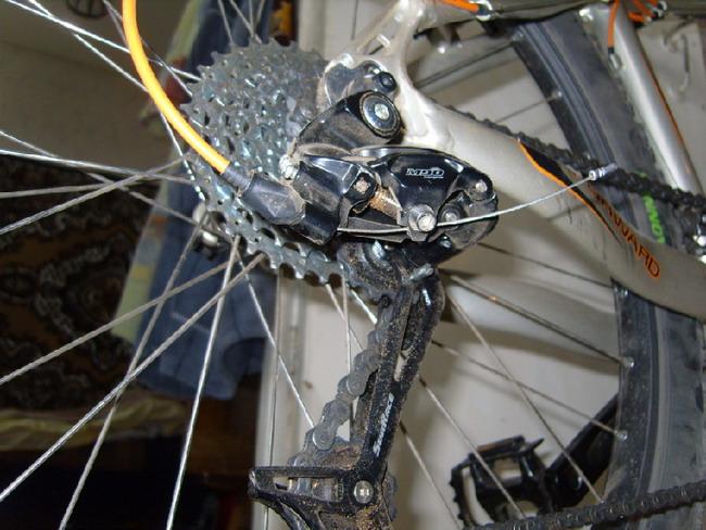 Велосипед форвард 1340 вид сзади, перекидка
