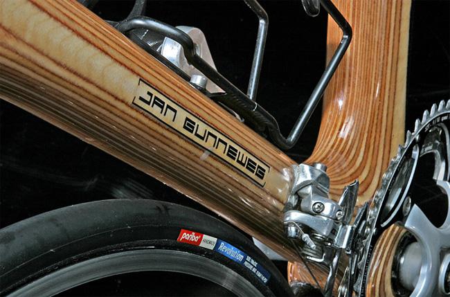 деревяный шоссейный велосипед навеска