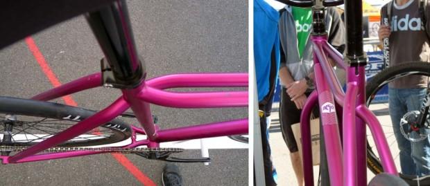 Велосипед с неправильной, несиметричной  рамой