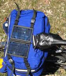 Солнечная панель на велосипед